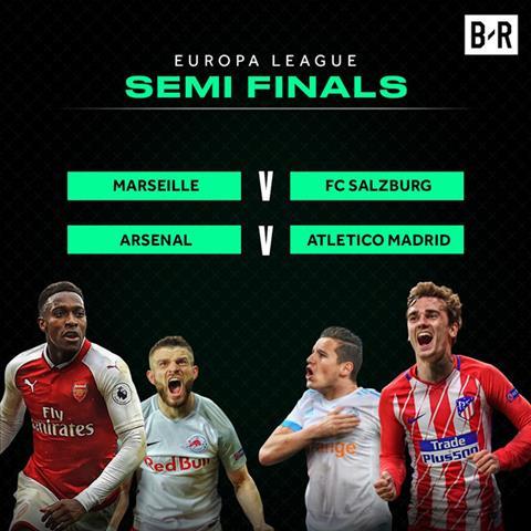 Ket qua boc tham ban ket Europa League 2017/18
