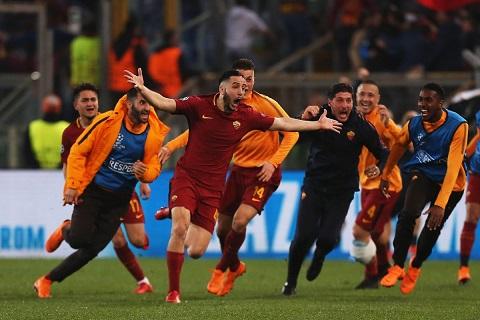 AS Roma bất ngờ lọt vào bán kết Champions League 2017/18