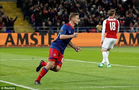 Chalov ghi ban mo ti so cho CSKA Moscow.