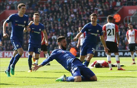 Tran dau Southampton vs Chelsea vong 34 NHA va su toa sang Giroud hinh anh