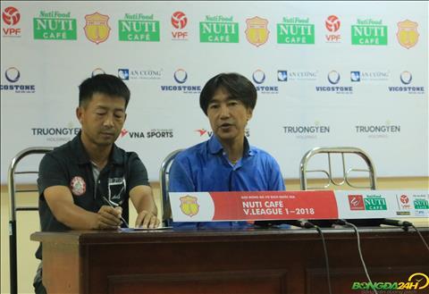 HLV Toshiya Miura cho rang Nam Dinh da roi vao bay phan cong cua TP Ho Chi Minh.