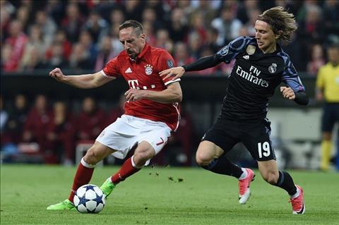 Bayern vs Real Modric Ribery di bong