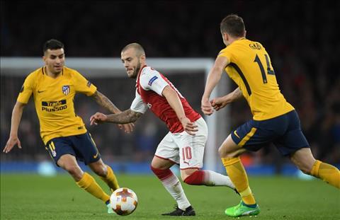 Wilshere tran Arsenal vs Atletico