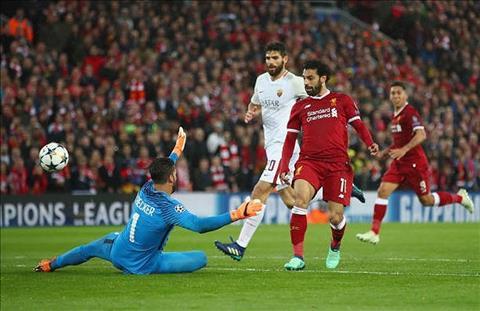 Mohamed Salah tit ngoi de tro lai manh me hon trong tran gap AS Roma tren san Olimpico.