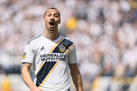 Ibrahimovic trong mau ao LA Galaxy