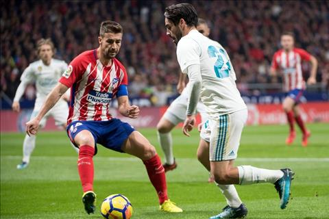Atletico Madrid vs Real Madrid Isco di bong