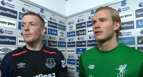 Pickford va Karius - hai diem sang hiem hoi o hai dau khung thanh trong tran Everton 0-0 Liverpool