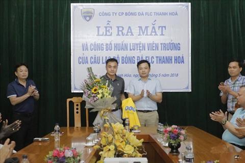 FLC Thanh Hoa bo nhiem HLV Duc Thang voi muc tieu vo dich V-League 2018.