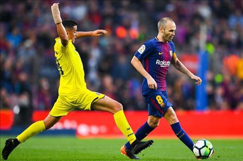 Barcelona Vs. Villarreal Iniesta di bong