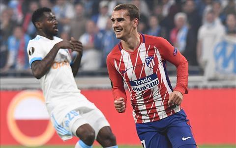 Griezmann ghi ban cho Atletico truoc Marseille