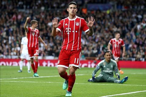 James Rodriguez ghi ban truoc Real