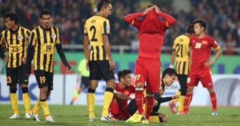 DT Viet Nam tung nhan trai dang truoc Malaysia tai AFF Cup 2014.