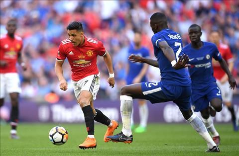 Chelsea vs MU Sanchez di bong