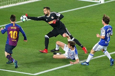 Diem nhan Barca vs Sociedad Messi