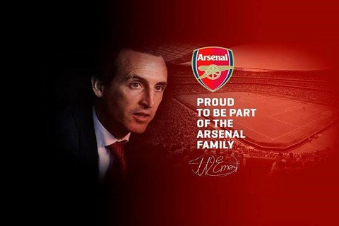 Arsenal bo nhiem Emery