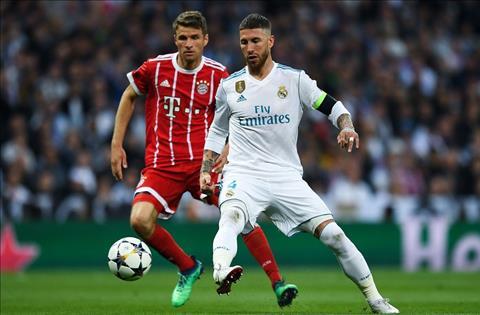 Real Madrid Vs Bayern Ramos tranh bong