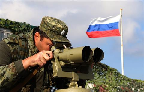 Chu nha Nga tang cuong quan doi o bien gioi vung Rostov.