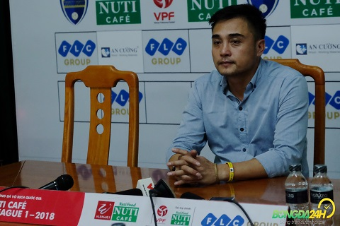 HLV Duc Thang phat bieu sau tran Thanh Hoa vs HAGL