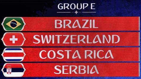 Lịch thi đấu bảng E World Cup 2018, LTĐ bảng E World Cup 2018 hình ảnh
