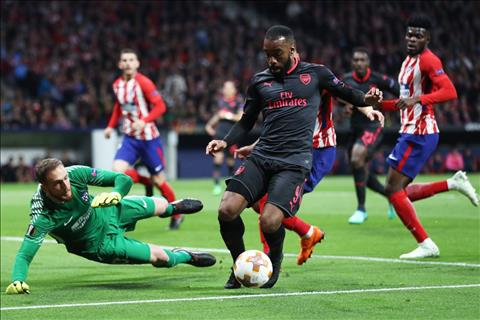 Lacazette Atletico 1-0 Arsenal