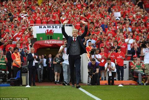 HLV Arsene Wenger co loi chao tam biet Emirates hoan hao voi tran dai thang Arsenal 5-0 Burnley
