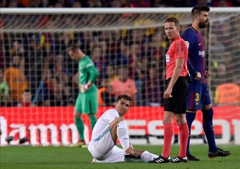 Ronaldo chan thuong o Sieu kinh dien, Real lo sot vo hinh anh