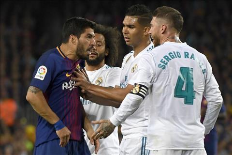 Barcelona vs Real Madrid Suarez va Ramos
