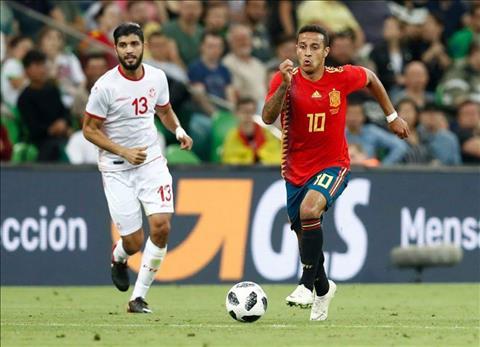 Tay Ban Nha 1-0 Tunisia Thiago