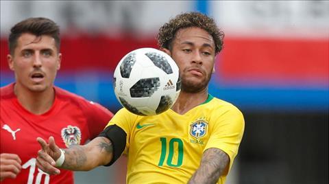 Neymar dung thu ba trong danh sach ghi ban cua DT Brazil.