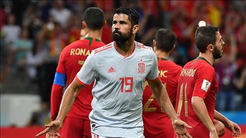 Cu dup ban thang cua Diego Costa o tran Bo Dao Nha 3-3 Tay Ban Nha bang B World Cup 2018