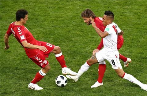 Những thống kê ấn tượng sau trận đấu Đan Mạch 1-0 Peru hình ảnh