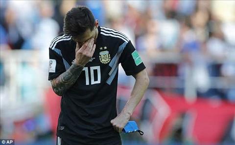 Noi that vong cua Lionel Messi khi tran dau ket thuc.