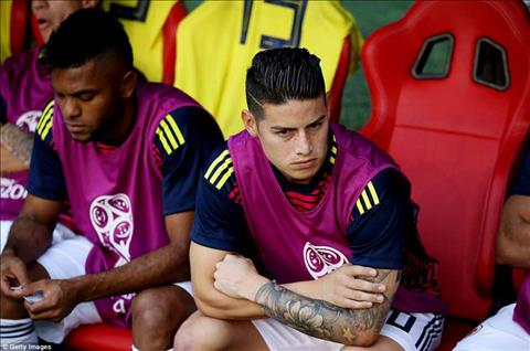 James Rodriguez khong ra san tu dau cho DT Colombia.