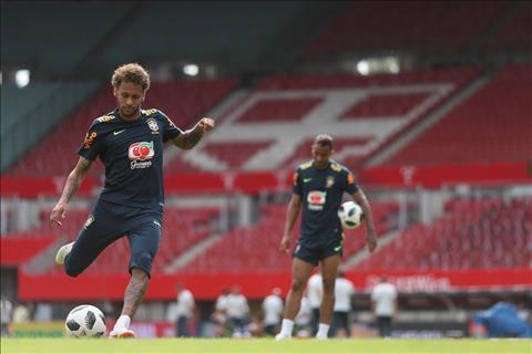 Twitter chinh thuc cua DT Brazil xac nhan Neymar bo tap vi chan thuong.