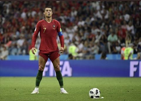 Cristiano Ronaldo la mot trong bon cai ten da ghi ban tu cham da phat truc tiep tai World Cup 2018.