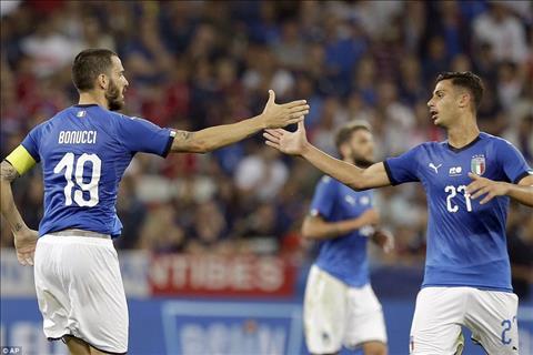 Italia chi kiem duoc 1 ban danh du nho cong cua doi truong Bonucci