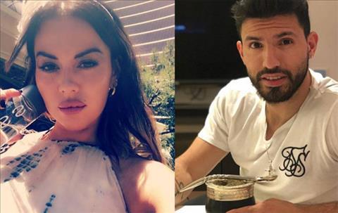 Tiền đạo Aguero hẹn hò người mẫu một đời chồng hình ảnh