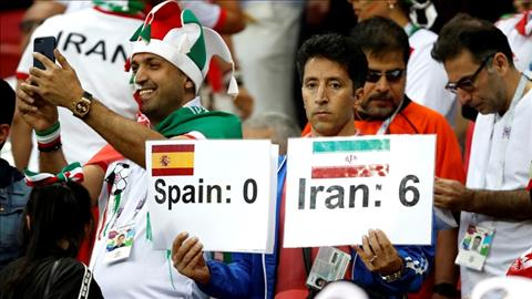 Mot CDV gay an tuong voi tam bien Tay Ban Nha 0-6 Iran.