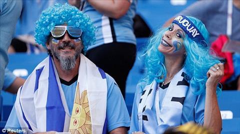 Cac CDV Uruguay thuong gay an tuong voi hinh ve tren mat cung cac mon do trang tri dam sac xanh.