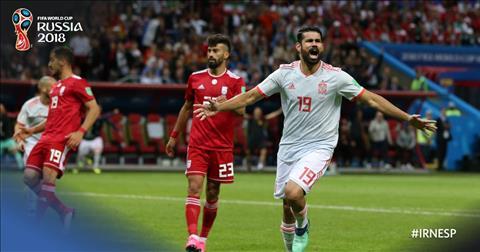 Diego Costa ghi ban thang duy nhat khien DT Iran bai tran.