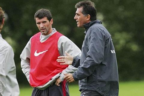 Roy Keane muốn vặt đầu Queiroz khi còn ở M.U