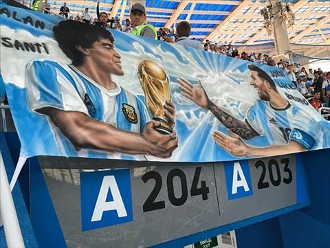 Tam bang ron dai dien cho niem hy vong Messi se tiep buoc Maradona mang cup vang ve cho Argentina.