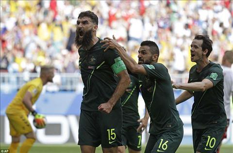 DT Australia van con co hoi de gianh ve vao vong loai truc tiep tai bang C World Cup 2018.