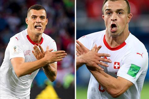 Xhaka, Shaqiri ăn mừng tranh cãi trận Serbia 1-2 Thụy Sỹ hình ảnh
