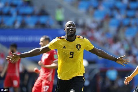 Lukaku ở trận Bỉ vs Tunisia chói sáng với cú đúp bàn thắng hình ảnh