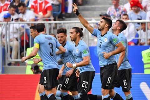 Uruguay co tran dau tien ghi hon mot ban o World Cup 2018. Anh: AP.