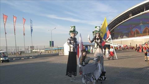 CĐV phủ vàng sân Kazan trong ngày Colombia hủy diệt Ba Lan hình ảnh