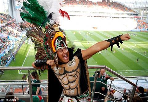 Mot CDV Mexico hoa trang theo phong cach tho dan chau My.