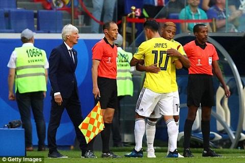 James Rodriguez dính chấn thương trong trận gặp Senegal