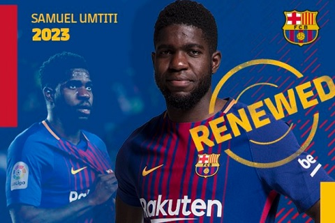 Umtiti gia hạn với Barca